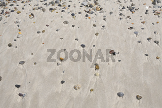 Sandy beach with pebble