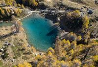 Bergsee Lac Bleu de Louche, Val d'Herens, Eringertal, Wallis, Schweiz