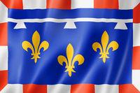 Centre-Val de Loire Region flag, France