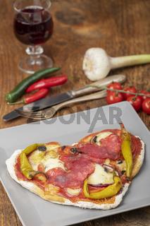 herzförmige Pizza
