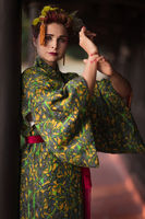Beautiful woman in Geisha kimono