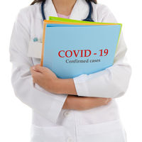 Medical doctor with Covid 19 report
