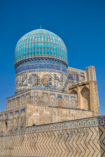 Beautifully decorated domes in city of Samarkand