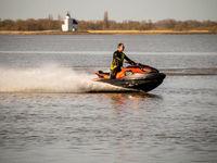 Wassermotorrad vor Juelsand