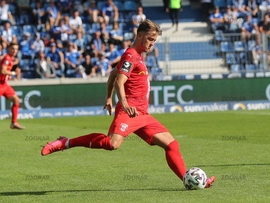 deutscher Fussballer Jannes Vollert  Hallescher FC  DFB 3.Liga Saison 2020-21