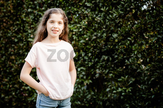 Caucasian Girl Posing Outdoors