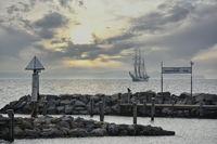 Historischer Segler vor der Insel Poel Ostsee