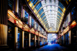 Deserted Leadenhall Market on a Sunday