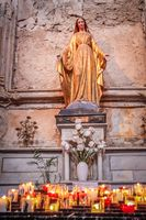 Madonna statue in the church of Gordes