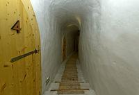 Gang im Eishotel