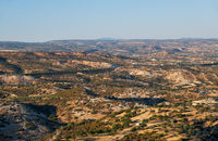 The view of the countryside of Limassol district. Cyprus