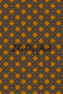 Yellow and Blue foloral tiles.  Background Intricate Filigree Seamless Pattern.