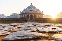 Isa Khan's tomb in the morning sun, Humayun's Tomb complex, New Delhi, India