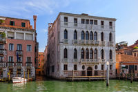 Garzoni Palace in Venice in the Grand Canal, Italy