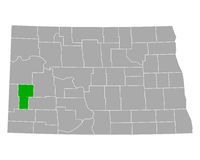 Karte von Billings in North Dakota - Map of Billings in North Dakota
