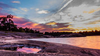 Sunset Baltic sea Sweden