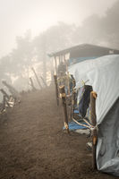 Tents On Acatenango Volcano Guatemala