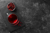 Healthy hibiscus tea