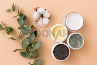 blue clay mask, body butter and eucalyptus cinerea