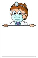 Doctor holding blank panel topic image 1