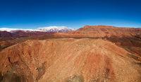 Aerial panorama of Atlas Mountains