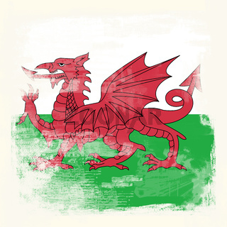 Grunge flag of Wales