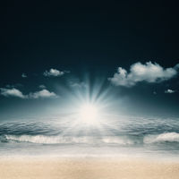 Summer day on the sea beach, abstract environmental backgrounds