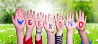 Children Hands Building Word Weekend, Grass Meadow