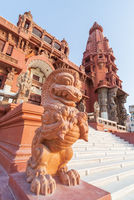 Dragon statue, at Baron Empain Palace, a hindu inspired mansion, Heliopolis district, Cairo, Egypt
