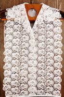 Vintage white false shirt-front