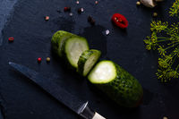 rustic fresh pickled cucumber  (polish malosolne)