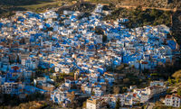 Overlooking the blue cityscape of Chefchaouen, Medina, Morocco