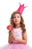Candy princess girl with lollipop