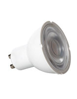 Isolated LED spotlight bulb with GU10 style connector for UK lamps