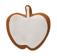 Gingerbread Apple Isolated On White Background