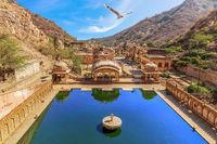 Monkey Temple or Hanuman Ji Temple in Jaipur, Rajasthan, India