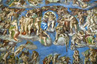 Rome Italy. Sistine Chapel by Michelangelo. December 2019