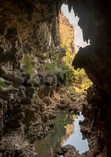 Xieng Liap cave and spring water, Thakhek loop, Laos