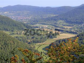 Maisenbachtal, Bad Urach, Landschaftsbild, Schwäbische Alb, August