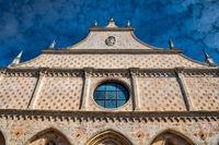 vicenza, italien - 19.03.2019 - alte kathedrale in der altstadt