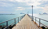 Walking pier by the sea in Limassol