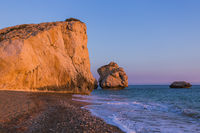 Aphrodite rock at sunset - Paphos Cyprus
