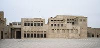 Landmark house of Sheikh Saeed al Maktoum in Dubai, UAE. Clear day 14 March 2020