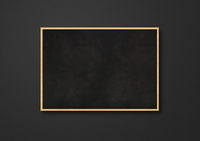 Traditional blackboard isolated on a black background