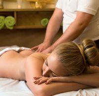 Beauty. Procedure of massage in spa center