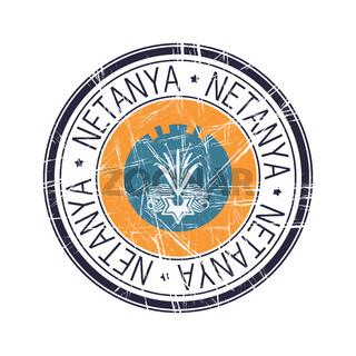 City of Netanya, Israel vector stamp