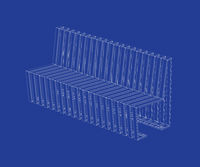 3D design of modern bench