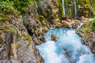 Die Wimbachklamm im Berchtesgadener Land