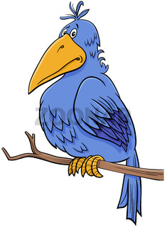 cartoon fantasy blue bird comic character