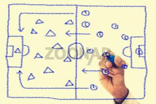 Strategy Diagram Drawn on transparent wipe board